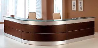 Counter de recepcion counter de melamina caunter recepci n for Recepcion oficina moderna