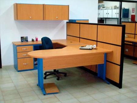 Escritorios para oficina escritorio de melamina for Escritorios de oficina lima